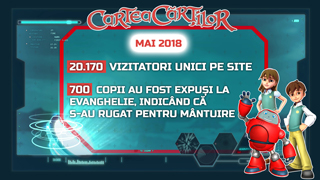 Site-ul CarteaCartilor.tv - activitatea din luna mai 2018