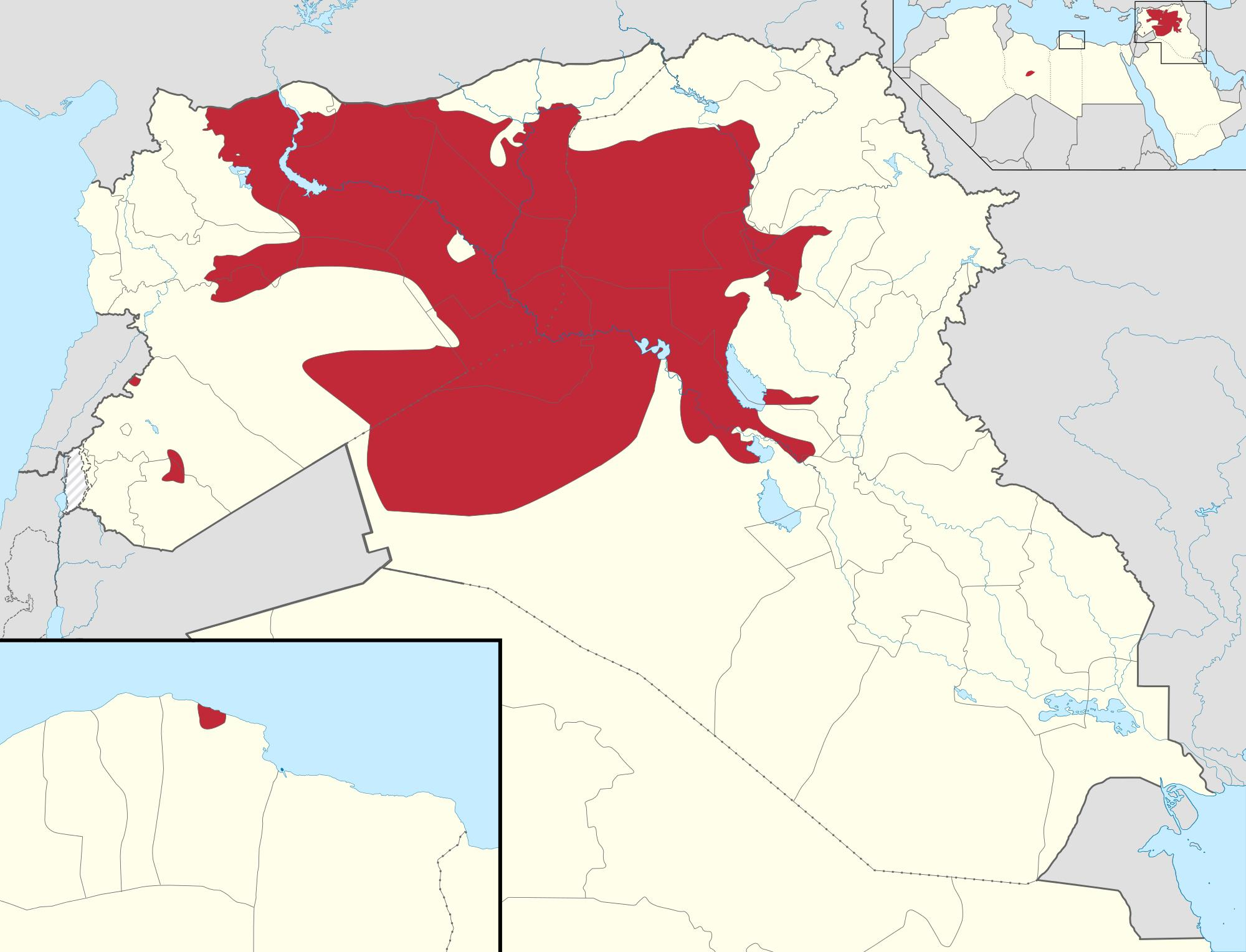 isis Territorial control of the ISIS  aprilie 2015