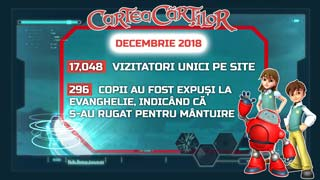 Site-ul CarteaCartilor.tv - activitatea din luna decembrie 2018