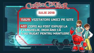 Site-ul CarteaCartilor.tv - activitatea din luna iulie 2018