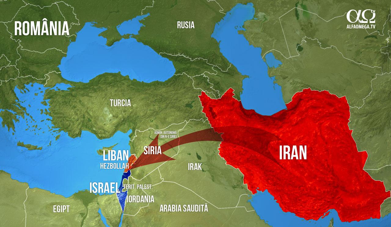 harta Israel Iran Hezbollah
