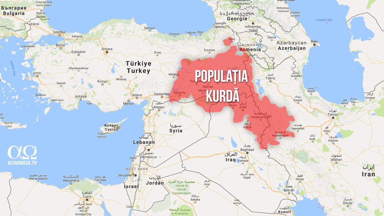 kurdistan etnici harta