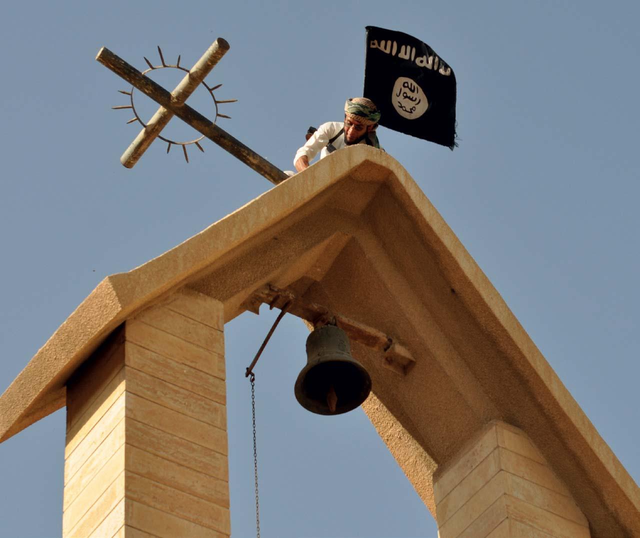 statul islamic steag crurce